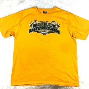 Harley-Davidson Yellow Indy West Graphic Tee